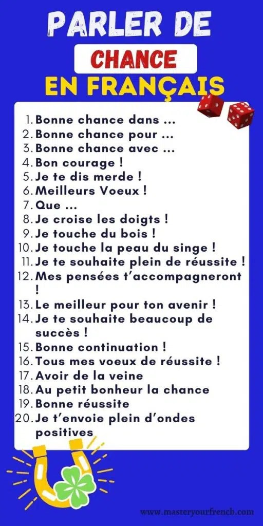 Je Te Le Dis Dans Toutes Les Langues : toutes, langues, Expressions, Bonne, Chance, Français, Master, French
