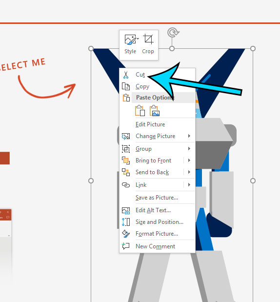 how to delete a picture in microsoft powerpoint