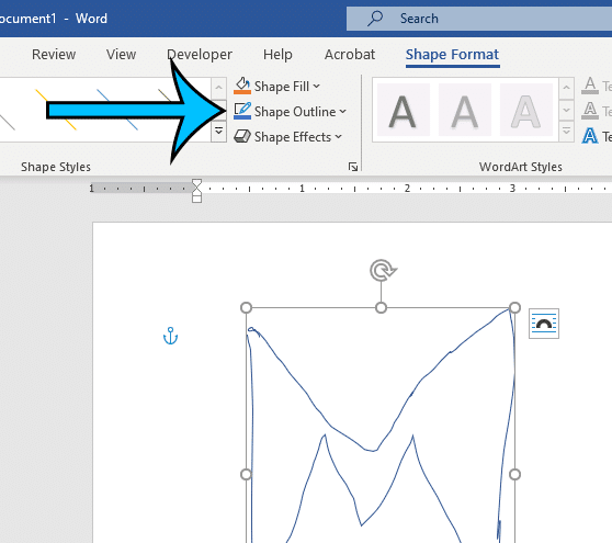 how to format a drawing in Word