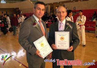 Maestro Porfirio Alvarez junto AL GM Oskar Posada.