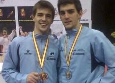Los hermanos Juan y José Fernandez Rey, ambos consagrados Campeones de España. (Foto de Archivo).