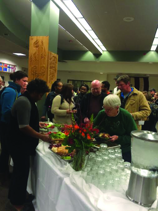 Students and community members were treated to snacks and refreshments at the Annual Harstad lecture. Photo Credit: Genny Boots