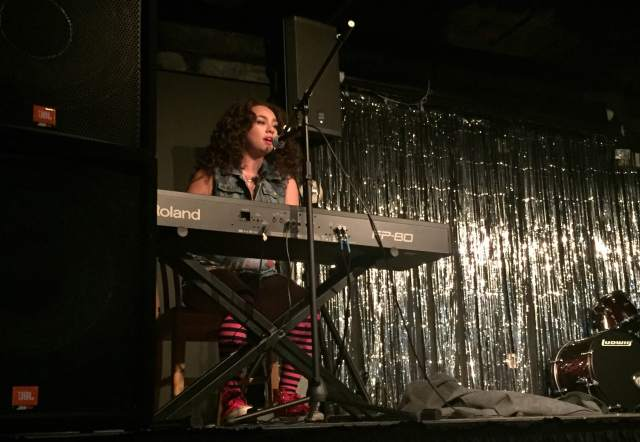 "Senior Asia B. Wolfe, pictured, won the ASPLU-sponsored ""Battle of the Bands"" event on April 9."