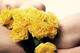 yellow roses and naked woman for Masturbation Monday Week 157