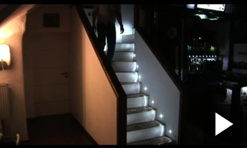diy wood chair mat recliner club automatic led stair lights