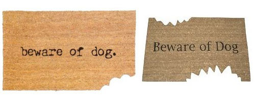bamboo chair mat real leather chairs beware of dog doormats