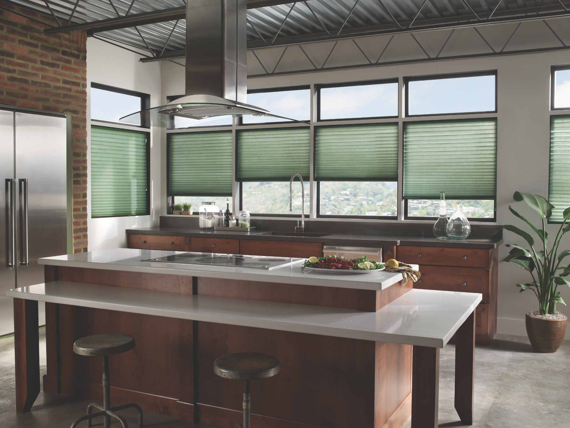 Modern Kitchen Cellular Shades From Blindsgalorecom