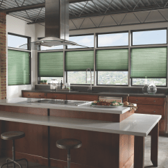 Modern Kitchen Window Treatments Mobile Island With Seating Cellular Shades From Blindsgalore