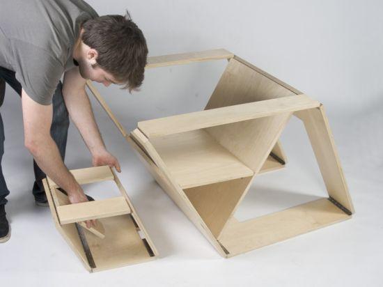 Folding Chair and Ottoman from Brain Stream Design Studio
