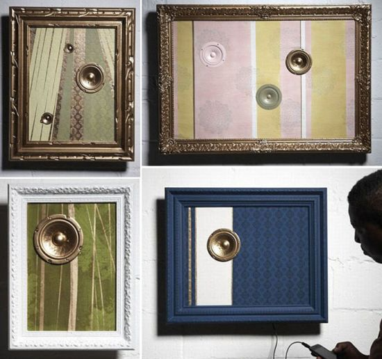 Frames Upcycled Rebaroques Speakers for Audiophiles