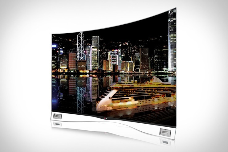 LG OLED Curved Screen TV