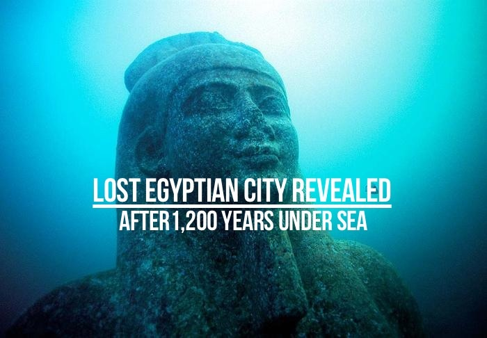 Lost Egyptian City Revealed After 1200 Years Under Sea