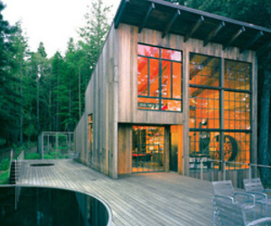desk chair modern outdoor swivel rocker sol duc cabin by olson kundig architects