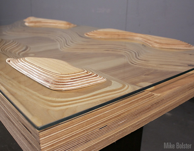 Peaks and Valleys table by Mike Bolster