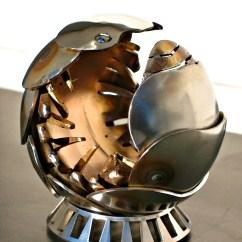 Bronze Kitchen Appliances Ceiling Light Fixtures Pillbug Sculpture