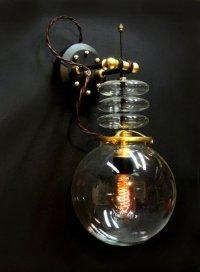 Steampunk Tesla Wall Lamp by Art Donovan