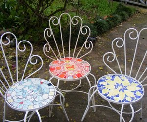 Upcycled Chairs with Mosaic Seats  Marylou Newdigate