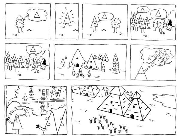 Comic-Triángulos