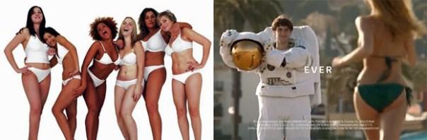 La compañía Unilever es dueña de esas dos marcas. Están cosificando a las mujeres y promoviendo ciertos ideales de belleza para influenciar a su audiencia masculina para la marca Axe. AL MISMO TIEMPO, promueven positividad corporal y un rechazo de los ideales de belleza en los medios, para influenciar a las audiencias femeninas con su marca Dove… como un traficante de armas vendiéndole a ambos bandos y manteniendo la guerra para incrementar las ganancias.