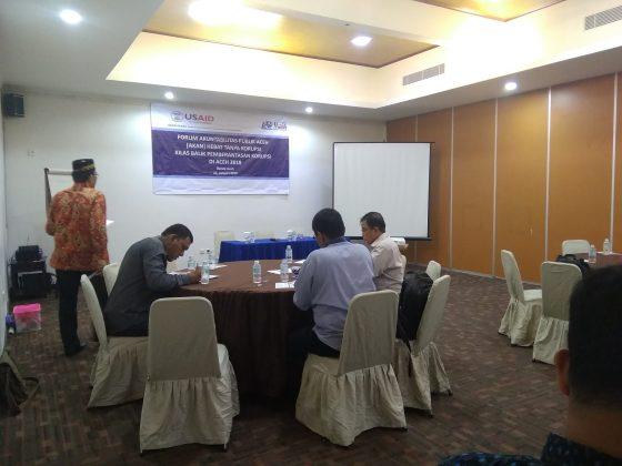 Forum Akuntabilitas Publik, Aceh Hebat tanpa Korupsi (5)