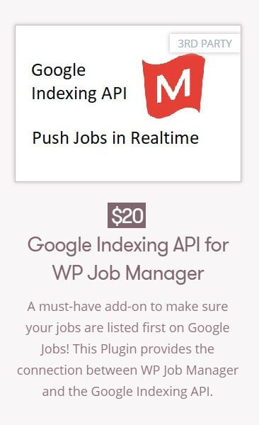 Google Indexing API for WP JOb Manager - buy now!