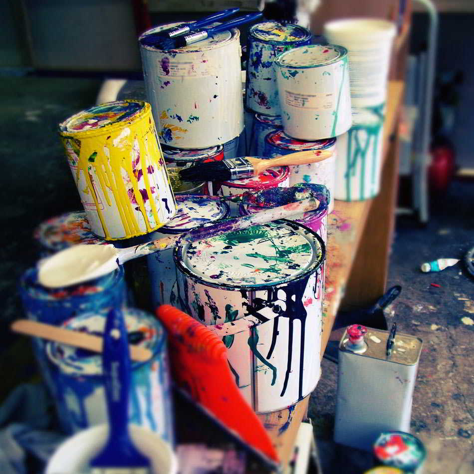Récupération des peintures usées