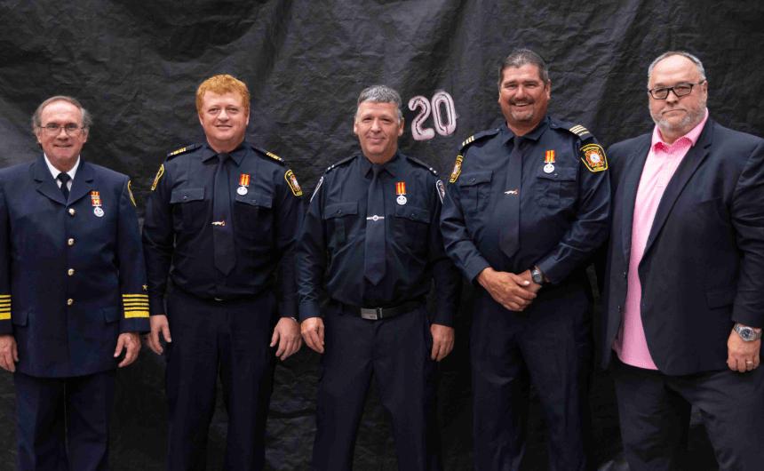 Grande distinction pour quatre pompiers de Matagami