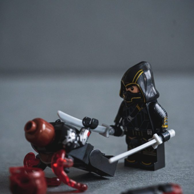 Legos fighting