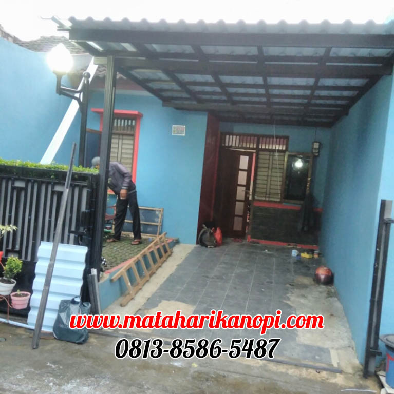 007.-kanopi-baja-ringan-atap-alderon-di-karadenan-bogor-11 Hasil Pemasangan Kanopi Baja Ringan Murah Atap Alderon di Karadenan, Cibinong, Bogor