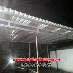Pasang Baja Ringan Bintaro Hasil Pemasangan Kanopi Atap Alderon Di Jl Kesehatan