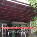 Hasil Pemasangan Kanopi Baja Ringan Atap Go Green Standar Warna Merah di Perum Villa Pelangi, Pengasinan, Bekasi Timur