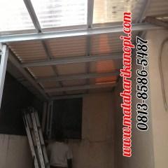 Harga Kanopi Baja Ringan Jakarta Timur Hasil Pemasangan Atap Solartuff Mix Alderon Rs