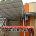 Hasil Pemasangan Kanopi Baja Ringan Atap Alderon Putih di Cilodong Asri, Cilodong, Depok