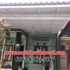 Harga Kanopi Baja Ringan Jakarta Timur Hasil Pemasangan Atap Alderon Super Elegan