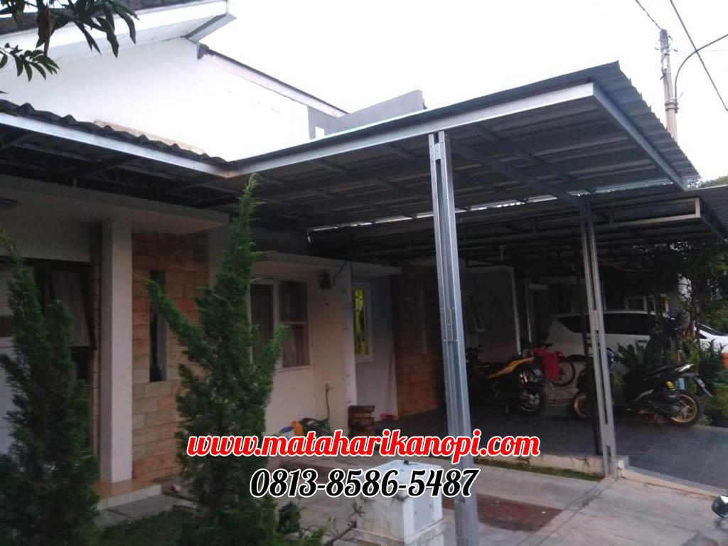 kanopi-baja-ringan-atap-spandek-standar-di-cibubur-garden-blok-E2-No-12-1-OK Hasil Pemasangan Kanopi Baja Ringan Atap Spandek Standar di Perum Cibubur Garden Depok Jakarta Timur