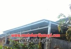 Hasil Pemasangan Kanopi Baja Ringan Atap Spandek Elegan Plus Cremona di Graha Mulya Cibinong