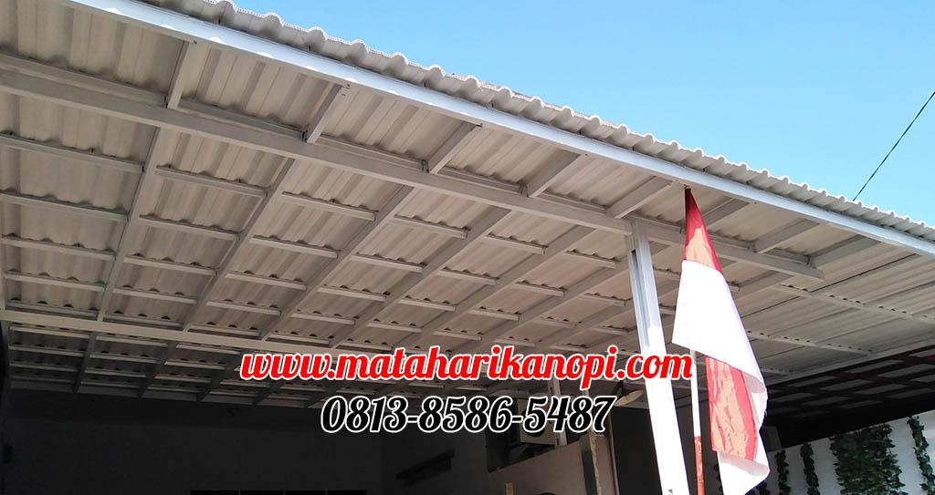 kanopi-baja-ringan-atap-sunpanel-super-elegan-1-OK Hasil Pemasangan Kanopi Baja Ringan Atap Alderon Super Elegan