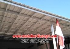 Hasil Pemasangan Kanopi Baja Ringan Atap Alderon Super Elegan