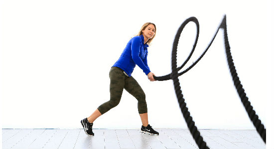 liny ćwiczenie naprzemienne