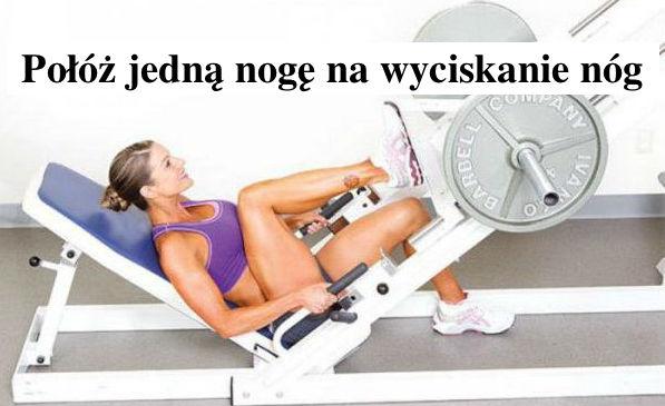 Trening nóg na maszynie - Gosia Klos