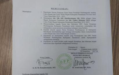 Resmi, PPP Rekom Kholifah di Pilkada Pamekasan 2018