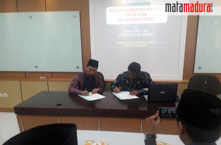 SMA Annuqayah-UII Yogyakarta Jalin Kerjasama Bidang Sains
