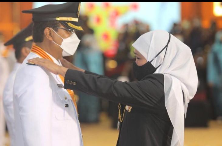 Gus Ipul Dilantik Jadi Wali Kota Pasuruan, Gubernur Khofifah: Top Mentor