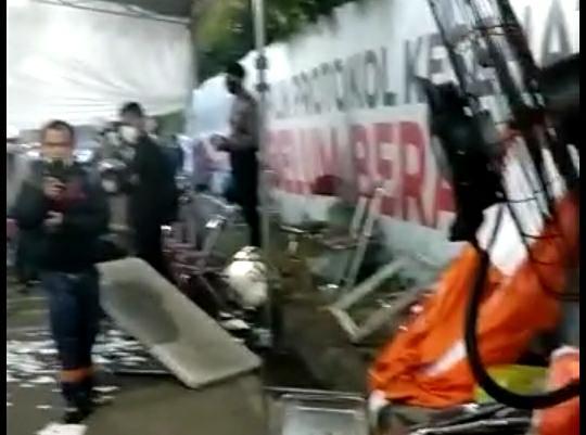 Pengendara dari Madura Protes Hingga Pos Penyekatan Suramadu Rusak