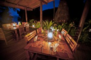 Dining at Matava, Fiji's Premier Eco-Adventure Resort