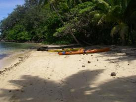 Coastal sea kayaking in Kadavu, Fiji