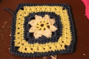 flower center granny square