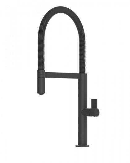 kitchen faucet laos matte black with spout removable imex