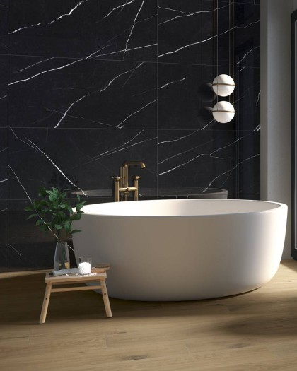 mistery colorker marble black look porcelain tile
