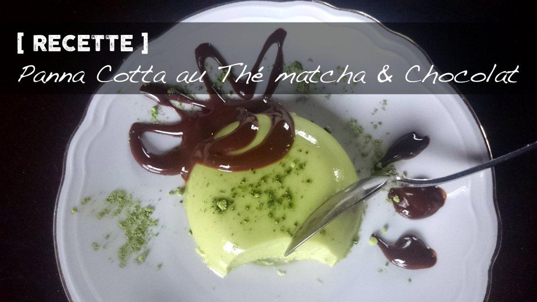 Recette de Panna Cotta au thé matcha et sauce au chocolat